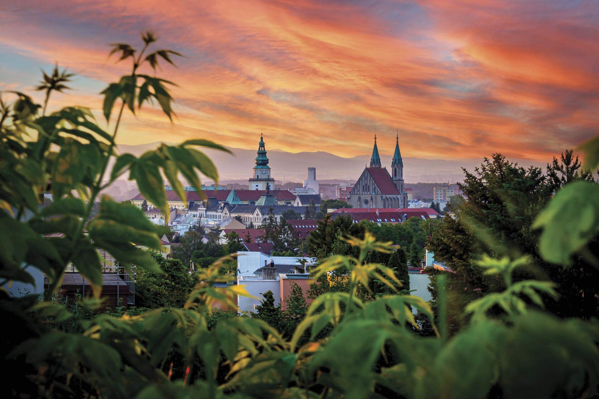 Ranní pohled na Kroměříž