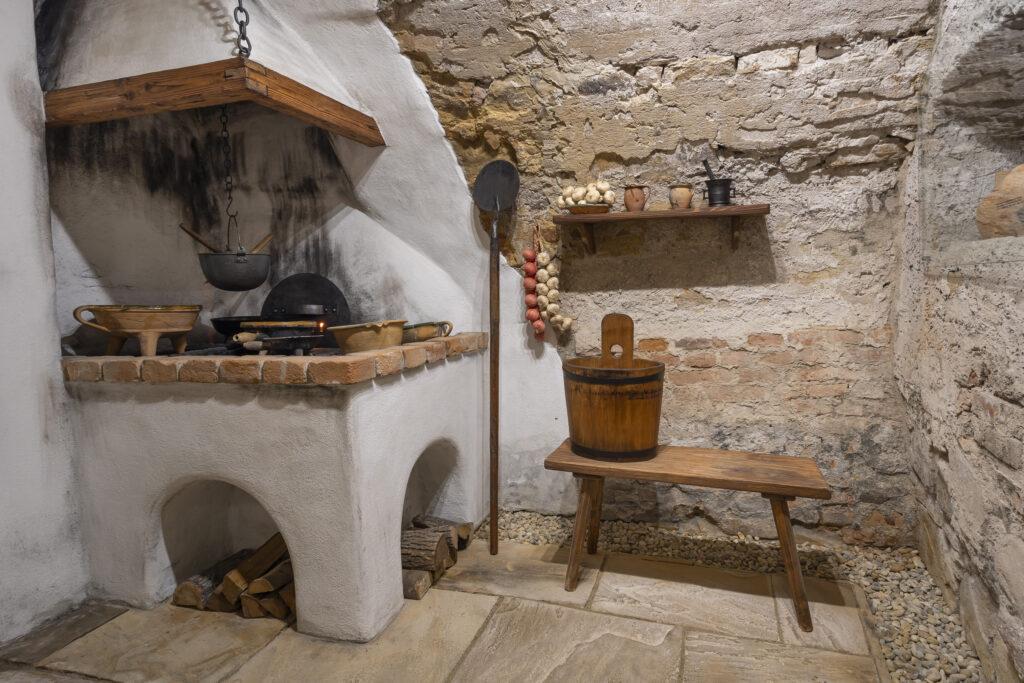 Historický model kuchyně