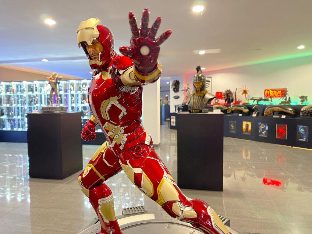Figurína Iron Mana v Film Legends Museum Kroměříž
