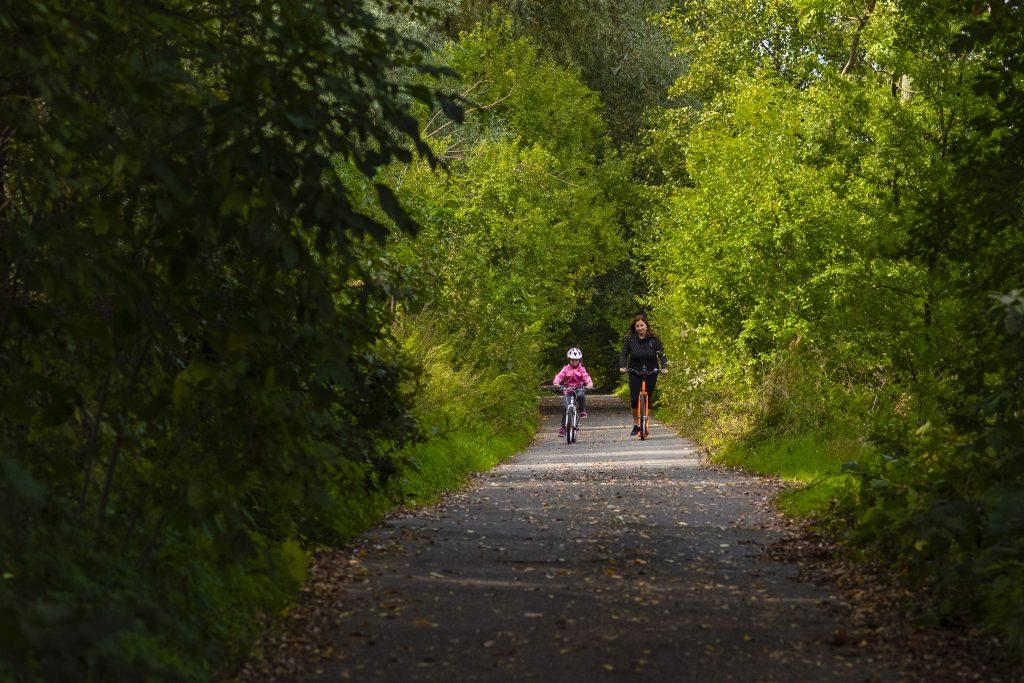Cyklisté na projížďce okolo Záhlinických rybníků