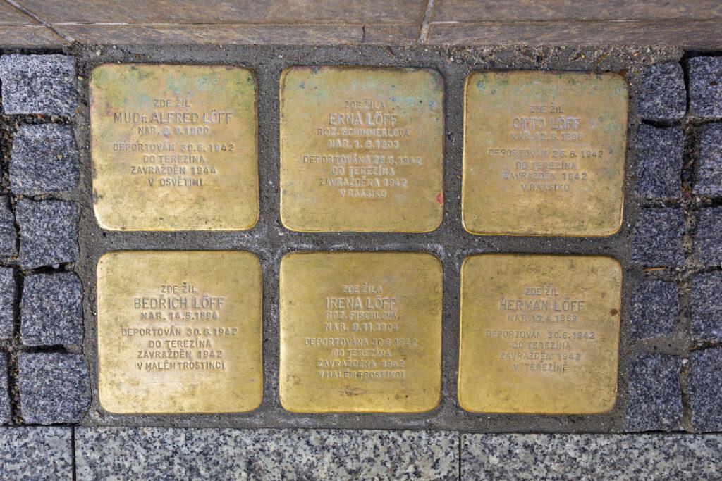 Kameny zmizelých ve Vodní ulici