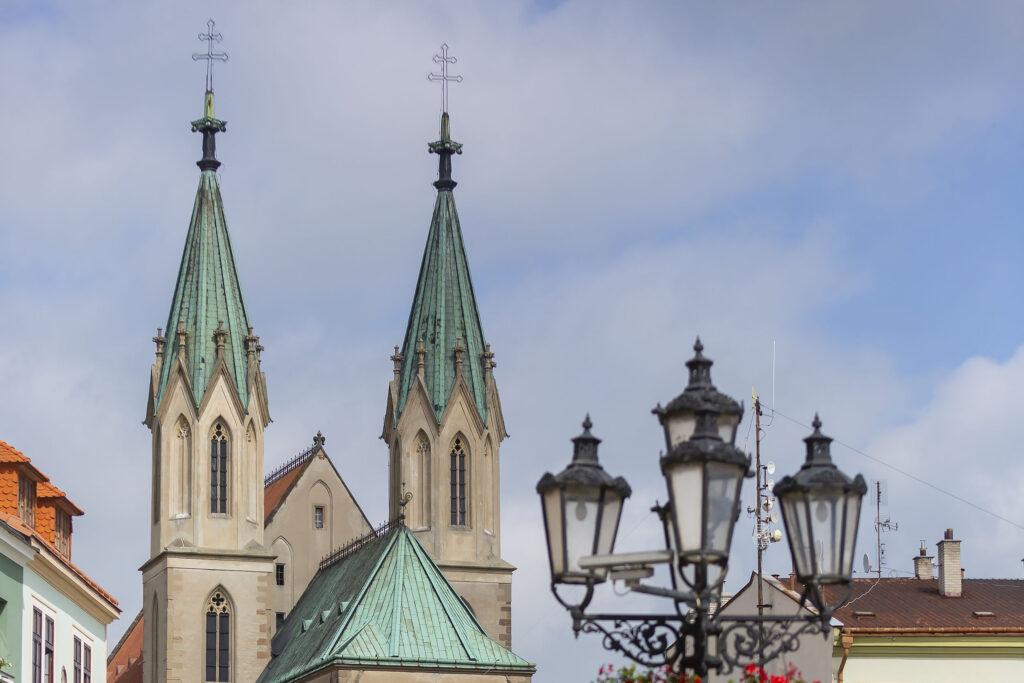 Detail věží kostela svatého Mořice