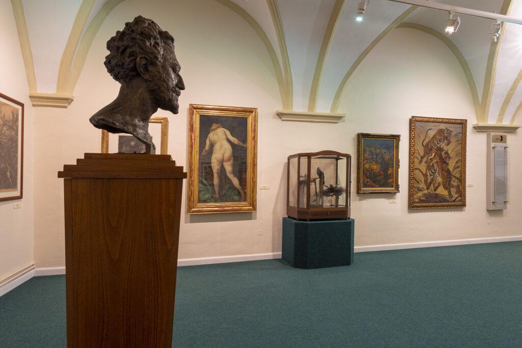 Busta Maxe Švabinského v Muzeu Kroměřížska