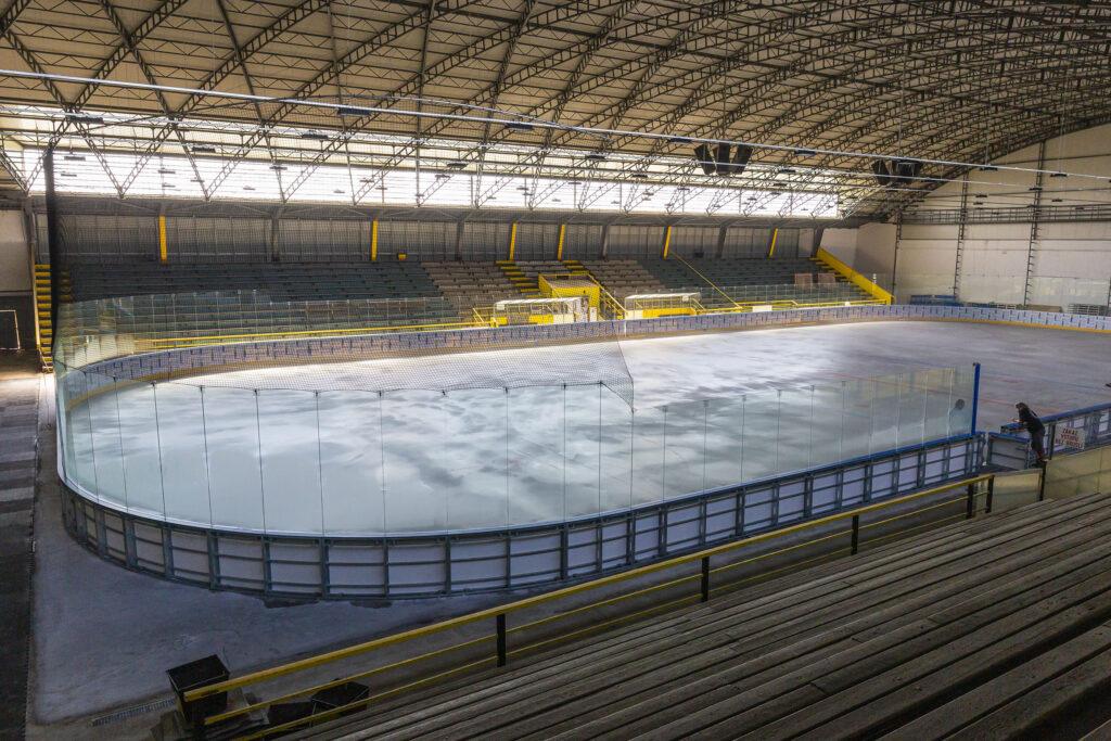Ledová plocha kroměřížského zimního stadionu
