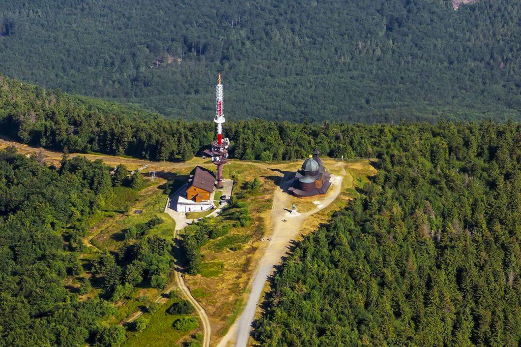 Letecký pohled na Radhošť