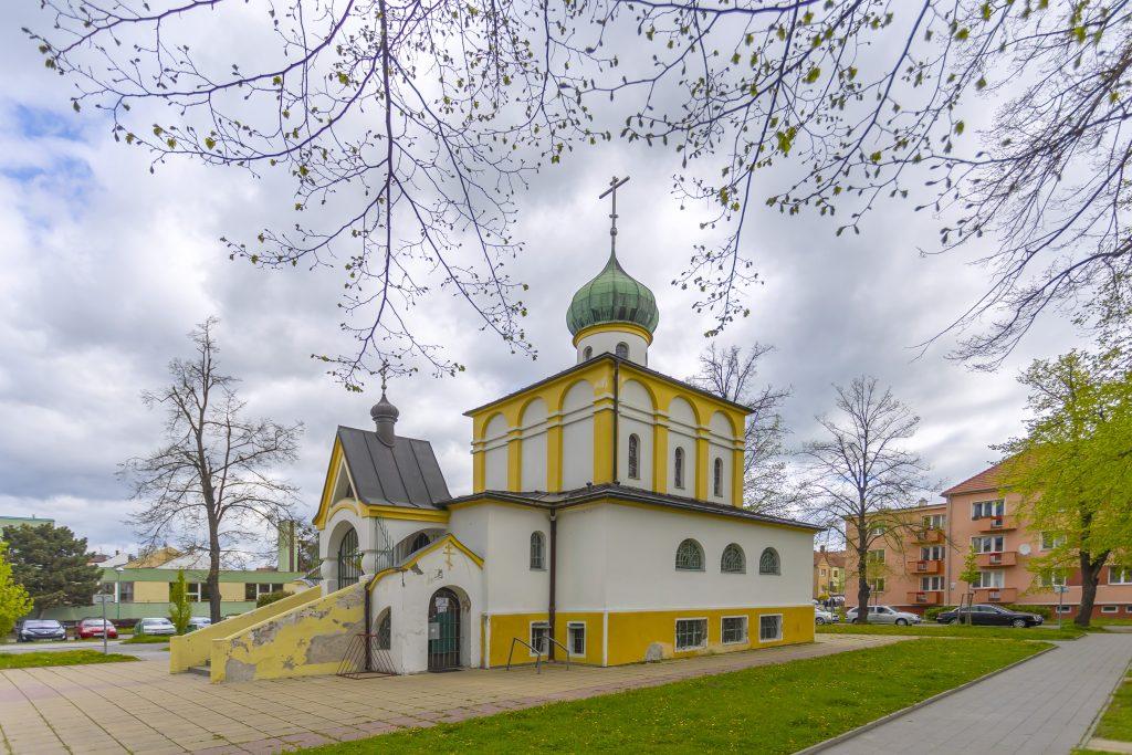 Boční pohled na Pravoslavný kostel svatých Cyrila a Metoděje