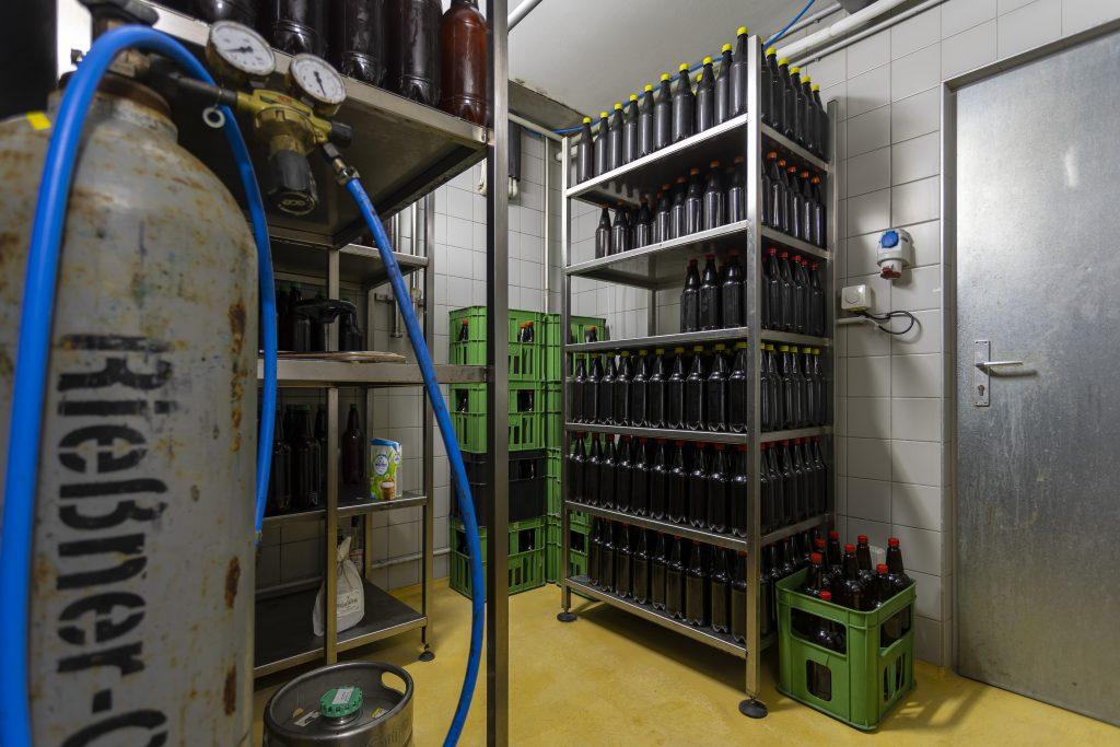 Zásoby lahví piva