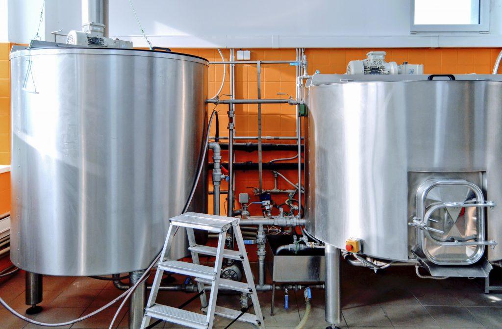 Výroba piva v kroměřížském pivovaru